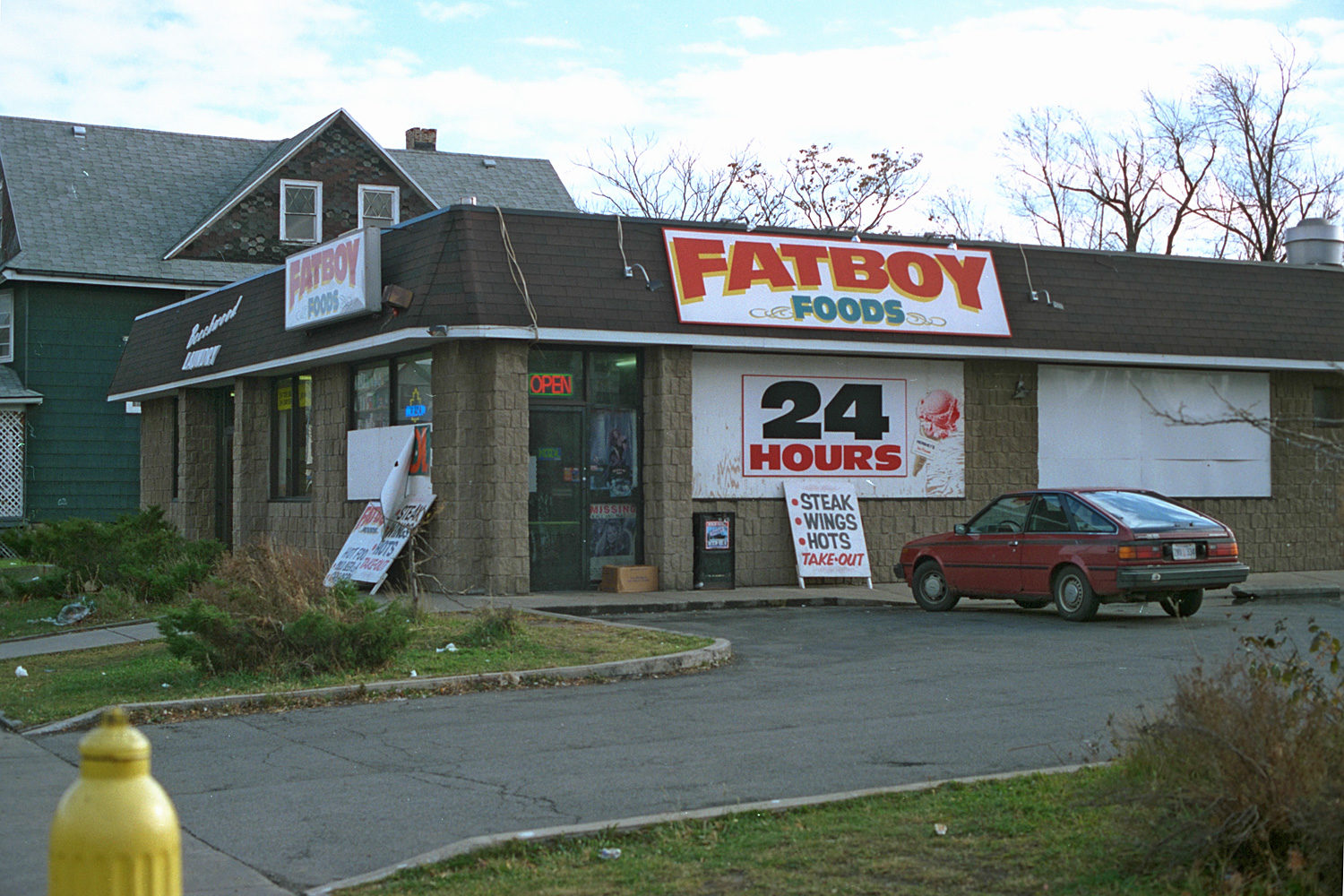 "11. Fatboys, East Main Street, Rochester. Source photo for Paul Dodd ""Passion Play"" 1999."