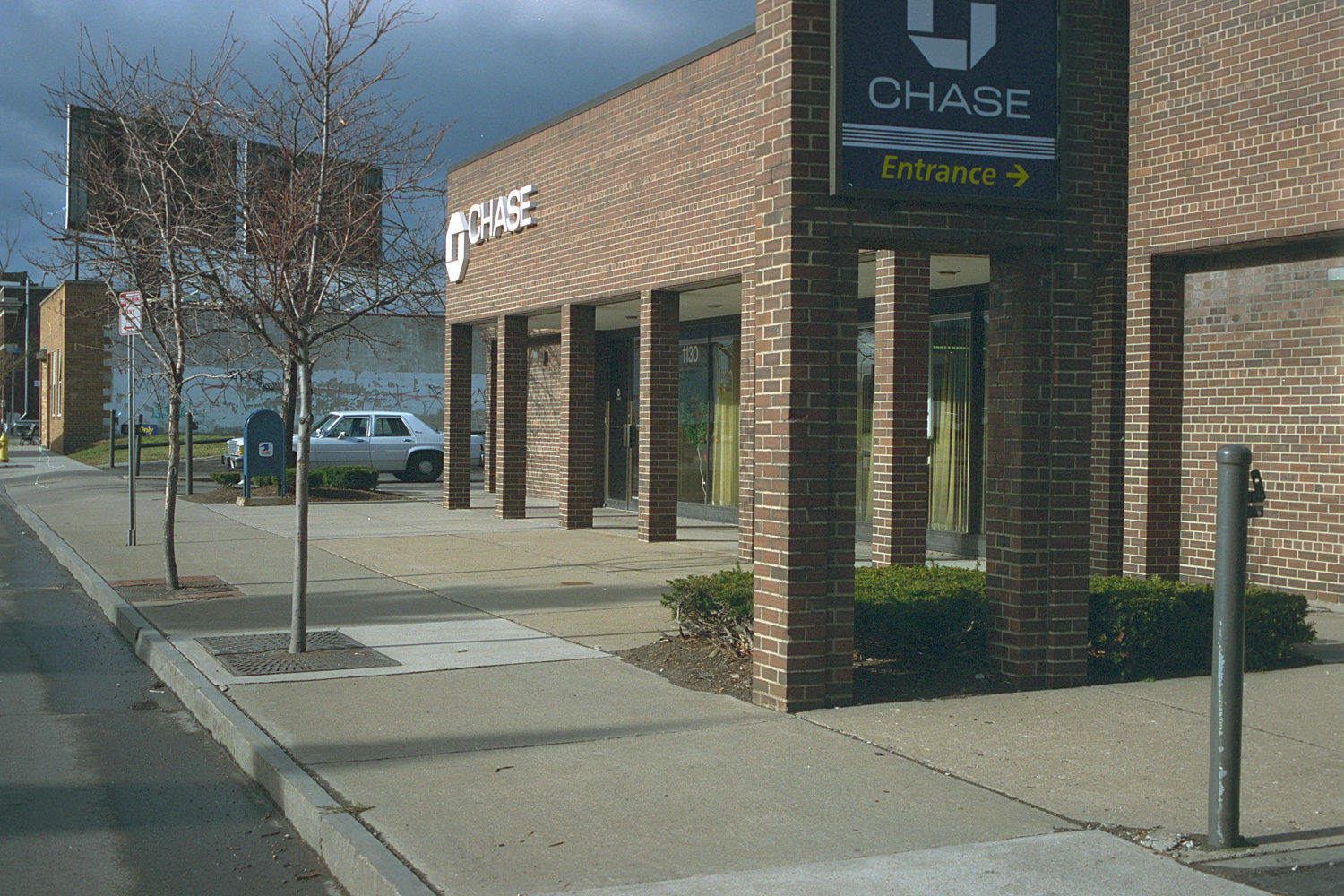 """12. Chase Bank, East Main Street, Rochester. Source photo for Paul Dodd """"Passion Play"""" 1999."""
