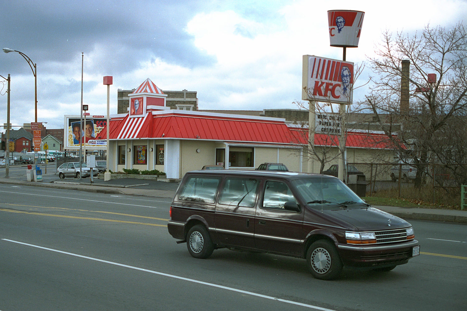 "26. Kentucky Fried Chicken, East Main Street, Rochester. Source photo for Paul Dodd ""Passion Play"" 1999."