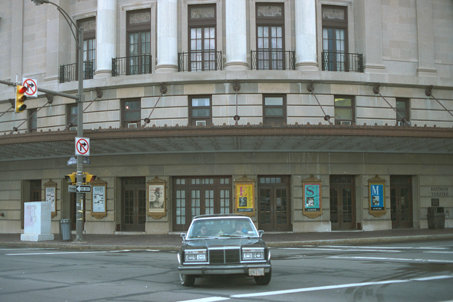 "32. Eastman Theater, East Main Street, Rochester. Source photo for Paul Dodd ""Passion Play"" 1999."