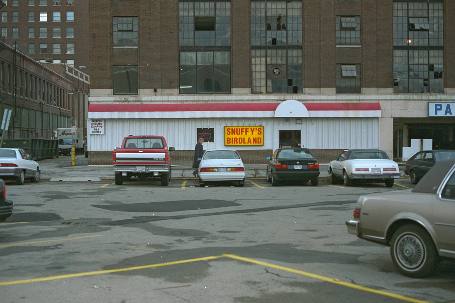 "33. Snuffy's Birdland, East Main Street, Rochester. Source photo for Paul Dodd ""Passion Play"" 1999."