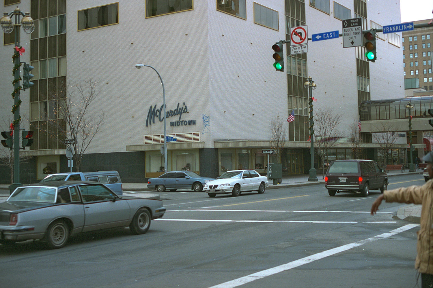 "35. McCurdys, East Main Street, Rochester. Source photo for Paul Dodd ""Passion Play"" 1999."
