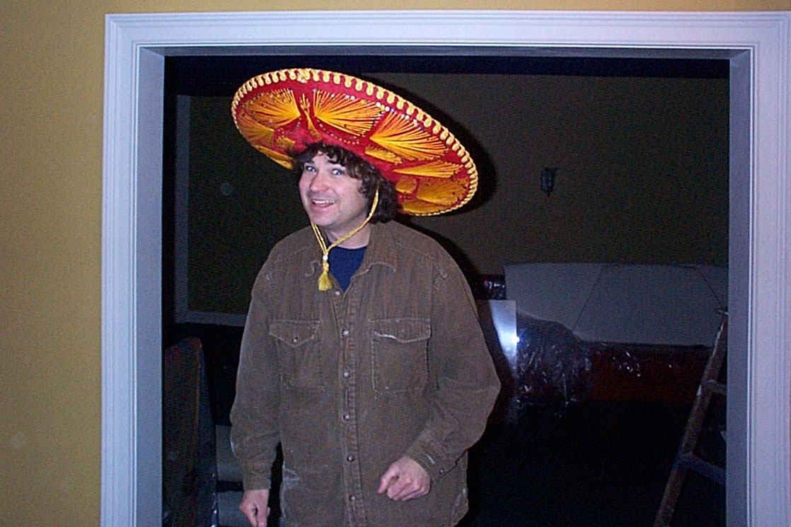 Casey with Mexican hat
