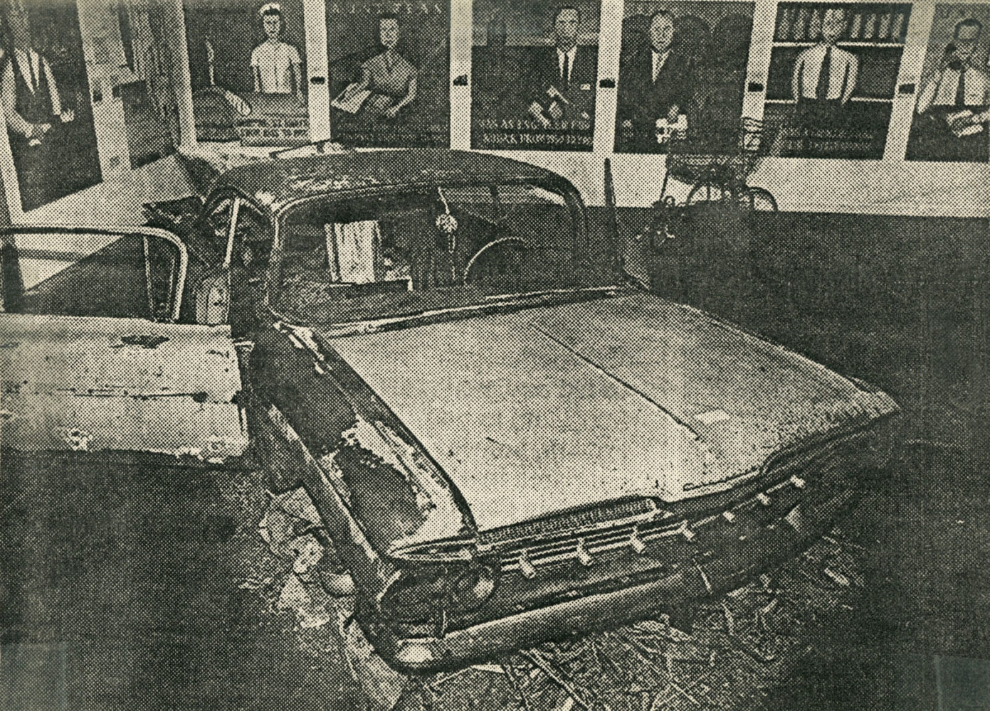 """Installation photo from City newspaper from 1990 Pyramid Arts Center show entitled """"The City"""""""