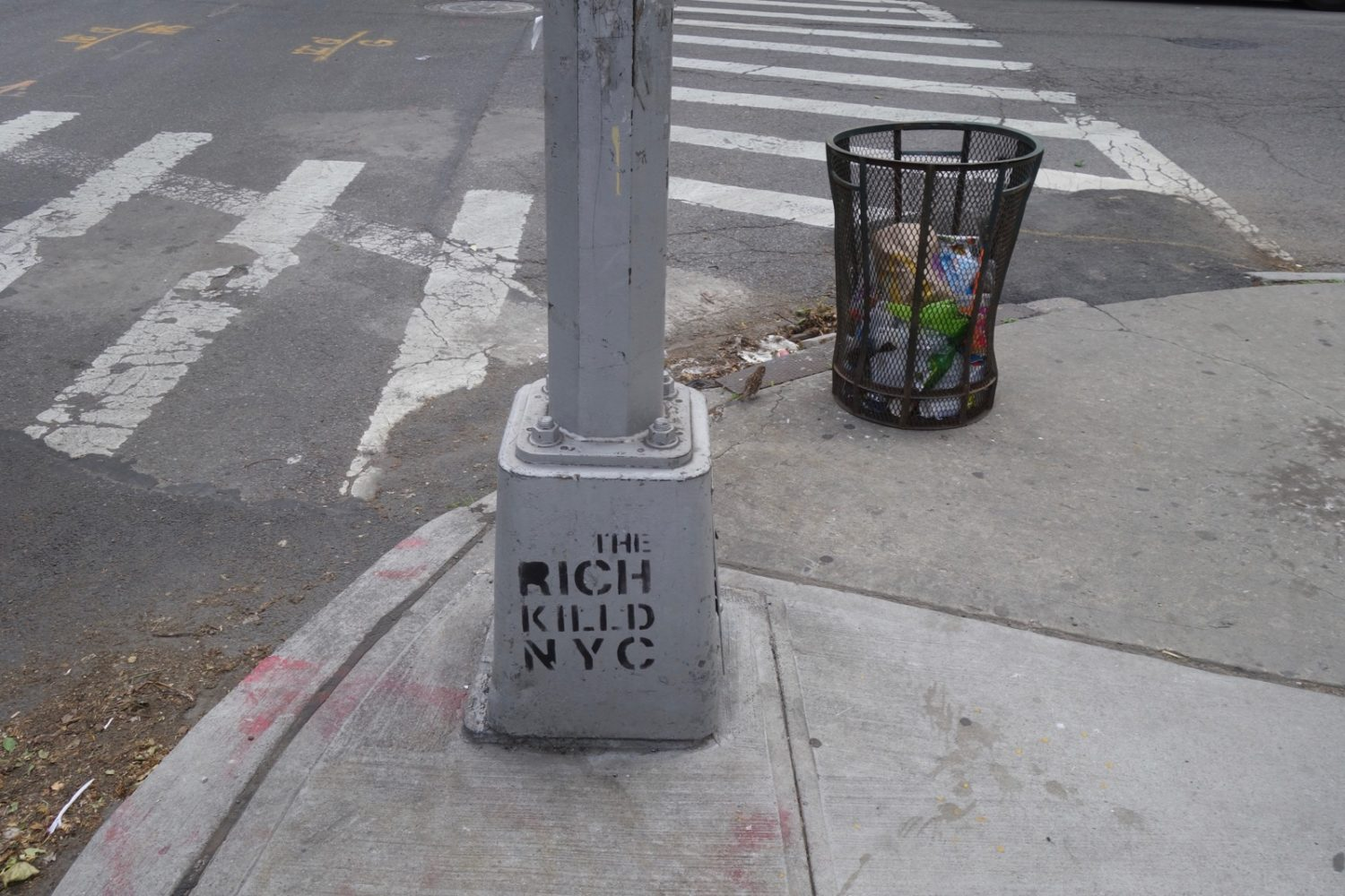 The Rich Killed NYC graffiti in Brooklyn