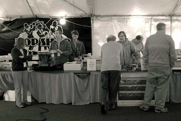 Bop Shop booth at the 2005 Rochester International Jazz Festival