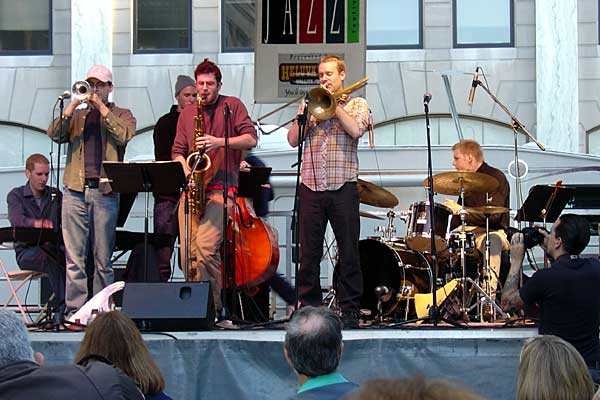 Respect Sextet performing at the 2006 Rochester International Jazz Festival