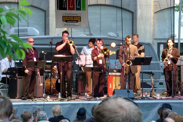 MK Groove Orchestra performing at the 2006 Rochester International Jazz Festival