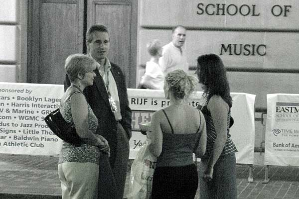 Mayor Duffy at the 2006 Rochester International Jazz Festival