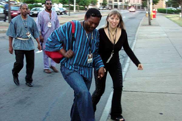 Saskia Laroo on the street at the 2007 Rochester International Jazz Festival