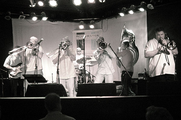 Bonorama performing at the 2007 Rochester International Jazz Festival