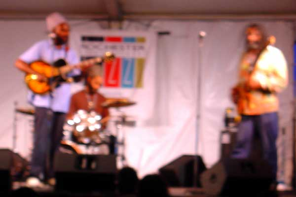 Corey Harris performing at the 2007 Rochester International Jazz Festival