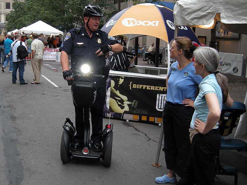 Cop on Segway at the 2008 Rochester International Jazz Festival
