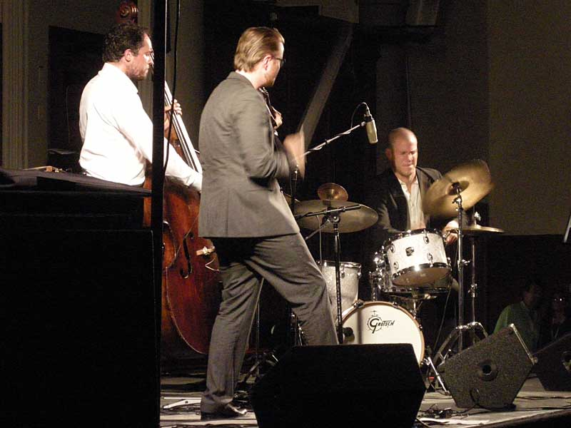 The Ola Kvernberg Trio performing at the 2008 Rochester International Jazz Festival