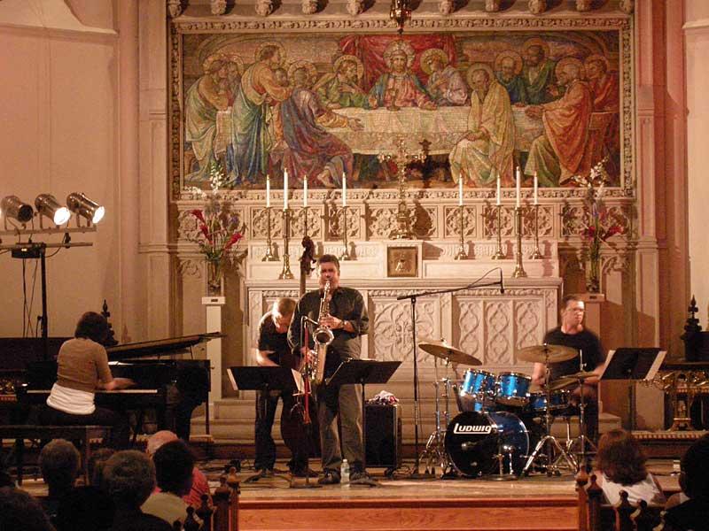 Kris Davis Quartet performing at the 2008 Rochester International Jazz Festival