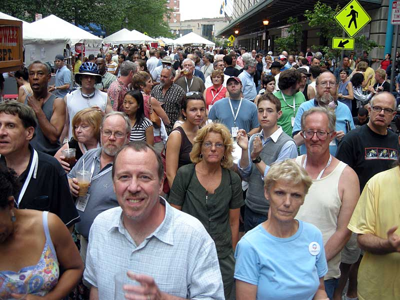 Crowd at the 2008 Rochester International Jazz Festival