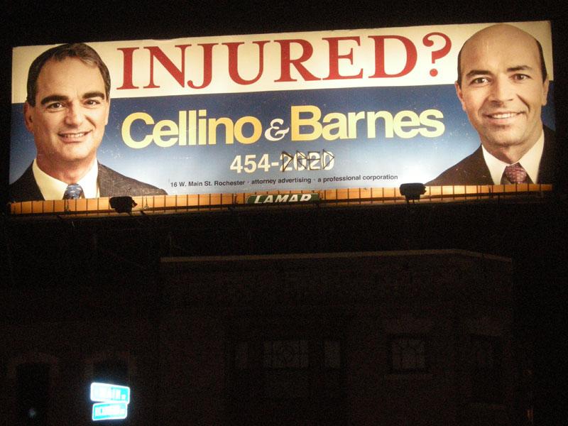 Cellino & Barnes billboard at the 2009 Rochester International Jazz Festival