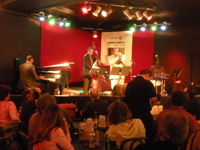 Terrel Stafford Quartet performing at the 2009 Rochester International Jazz Festival