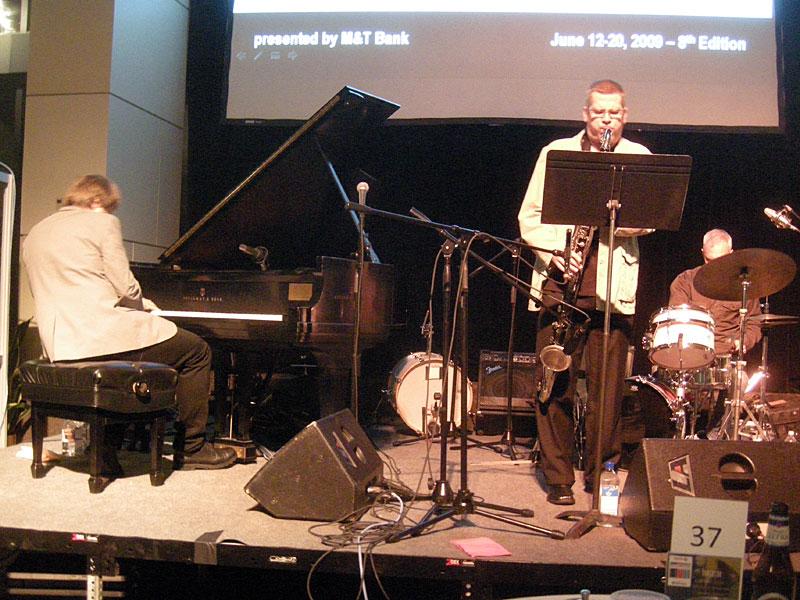 Jon Ballantyne Trio performing at the 2009 Rochester International Jazz Festival