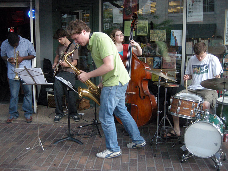 Street band performing at the 2009 Rochester International Jazz Festival