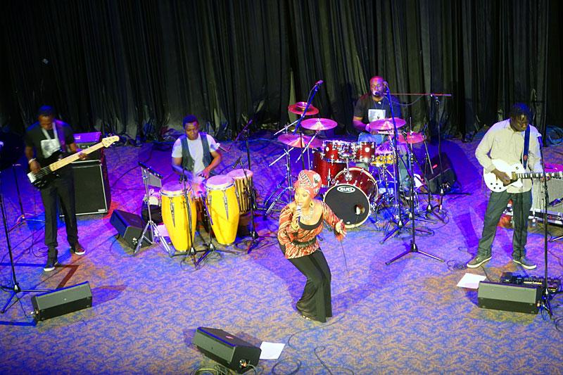 Lorraine Klaasen performing at the 2014 Rochester International Jazz Festival