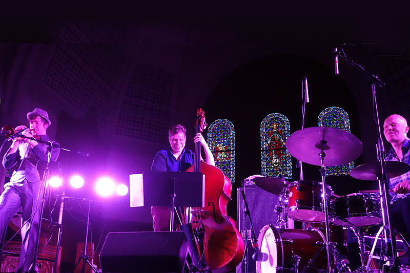 Sun Trio performing at the 2014 Rochester International Jazz Festival