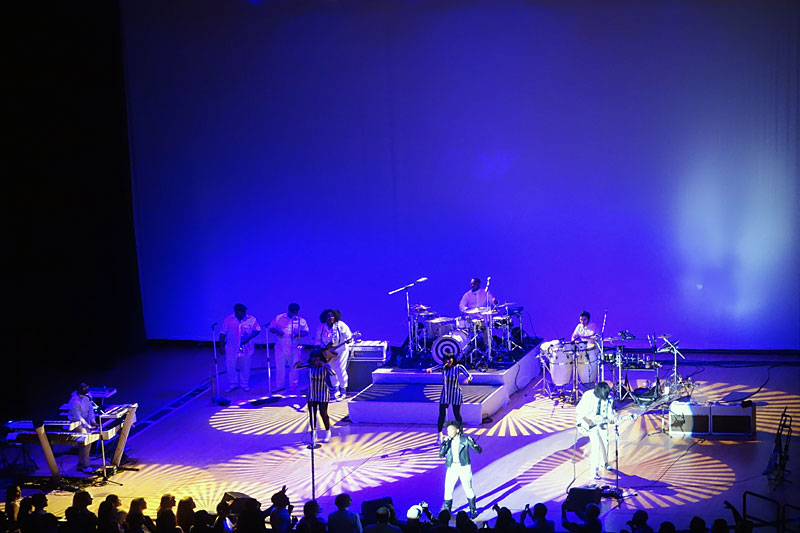 Janelle Monae performing at the 2014 Rochester International Jazz Festival