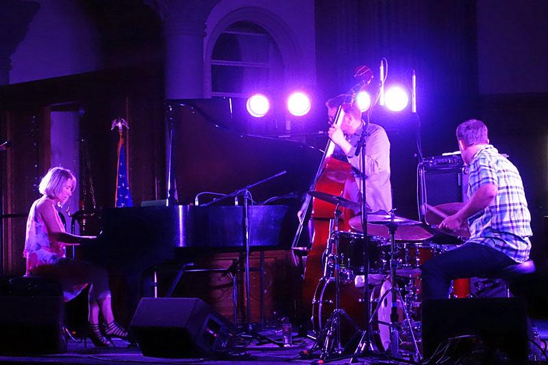 Sunna Gunnlaugs performing at the 2014 Rochester International Jazz Festival