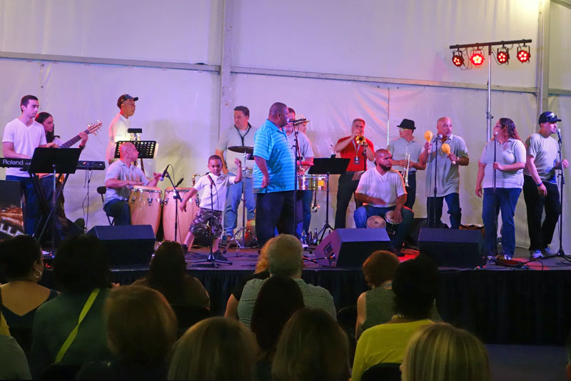 Calle Uno performing at the 2014 Rochester International Jazz Festival