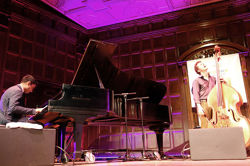 Vijay Iyer Trio performing at the 2014 Rochester International Jazz Festival
