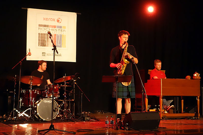Paul Towndrow Trio performing at the 2014 Rochester International Jazz Festival