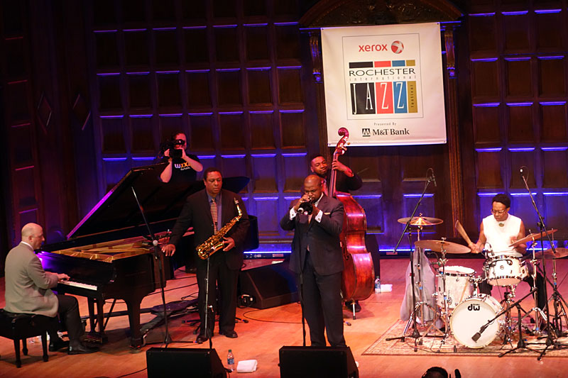Louis Hayes and the Cannonball Legacy Band performing at the 2014 Rochester International Jazz Festival