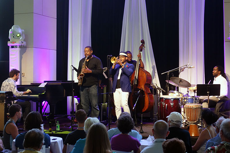 Etienne Charles performing at the 2014 Rochester International Jazz Festival