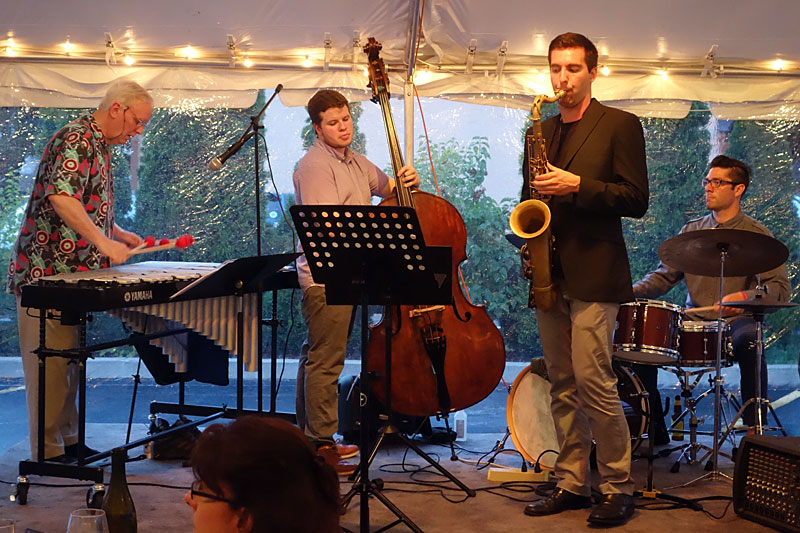 Unknown band performing at the 2014 Rochester International Jazz Festival