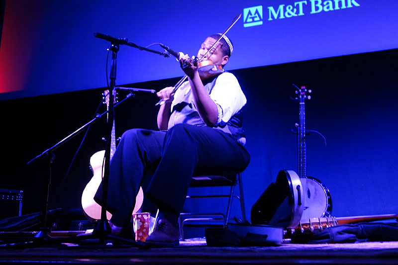 Blind Boy Paxton performing at the 2014 Rochester International Jazz Festival