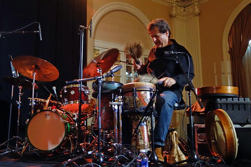 Jamey Haddad performing at the 2014 Rochester International Jazz Festival