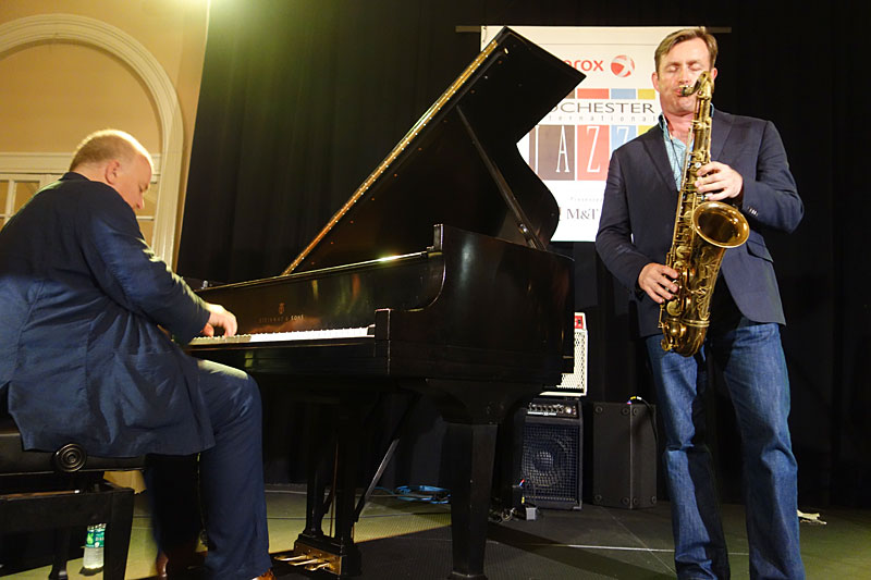 Brian Kellock & Tommy Smith performing at the 2014 Rochester International Jazz Festival
