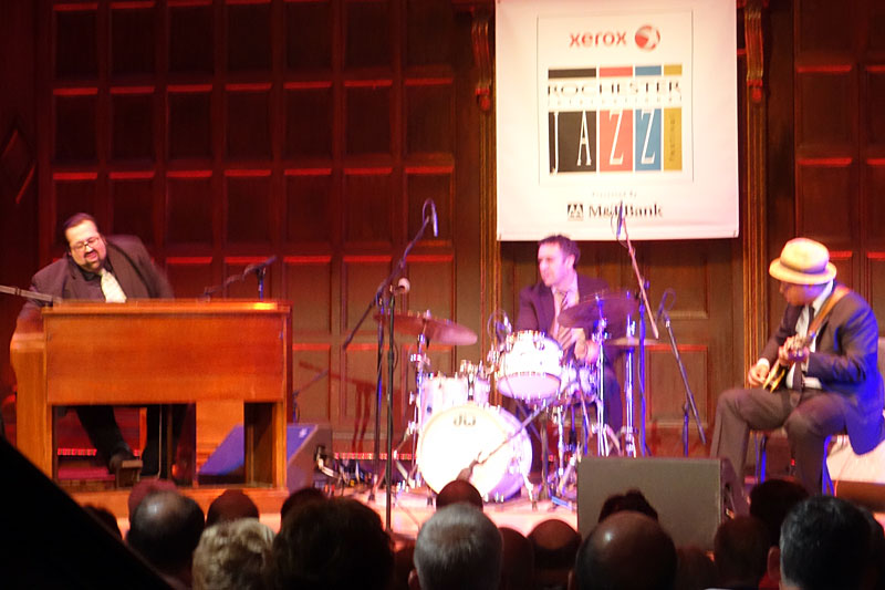 Joey DeFrancesco Trio performing at the 2014 Rochester International Jazz Festival