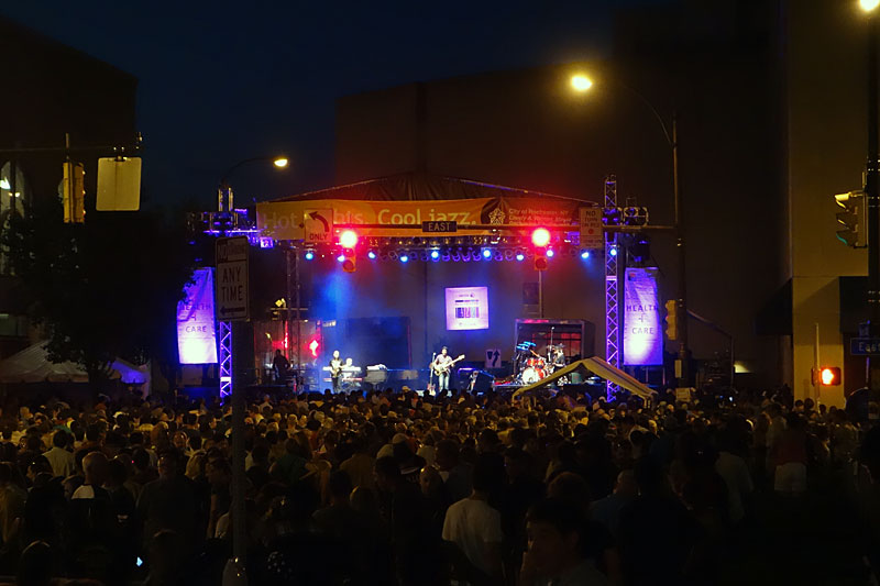 Marcus Miller performing at the 2014 Rochester International Jazz Festival
