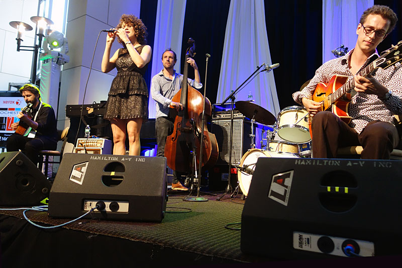 Cyrille Aimee performing at the 2014 Rochester International Jazz Festival