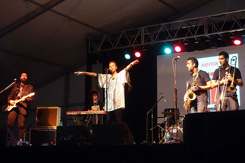 Ester Rada performing at the 2014 Rochester International Jazz Festival