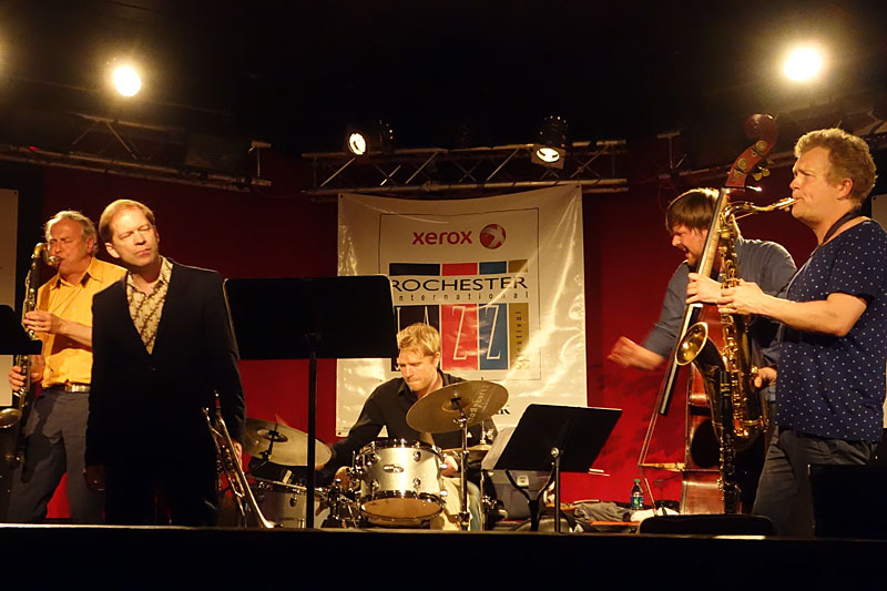 The Deciders performing at the 2014 Rochester International Jazz Festival