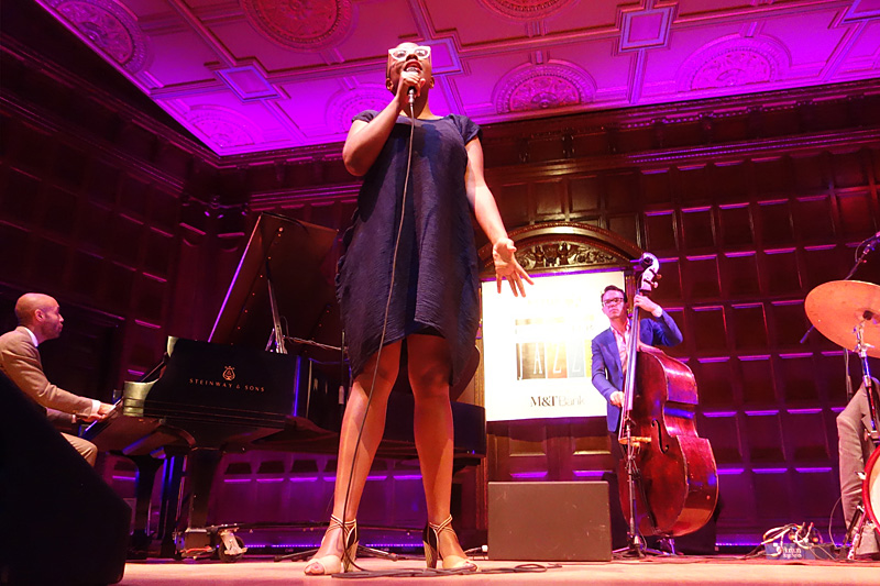 Cecile McLorin Salvant performing at the 2015 Rochester International Jazz Festival