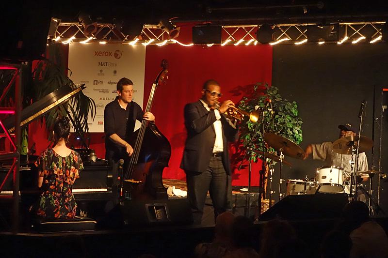Jeremy Pelt performing at the 2015 Rochester International Jazz Festival