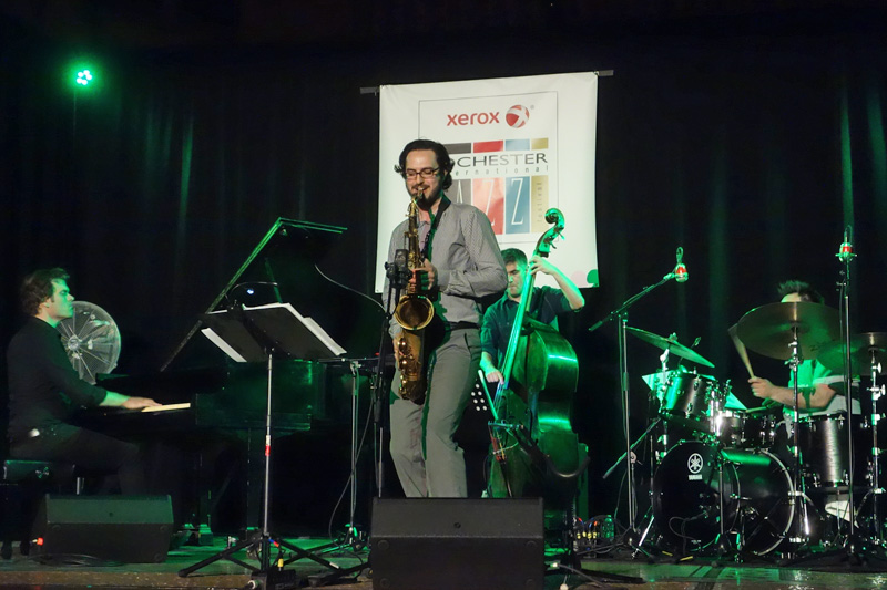 Andrew McCormack Quartet performing at the 2015 Rochester International Jazz Festival