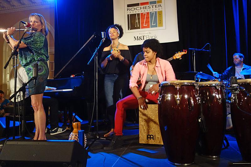 Jane Bunnet performing at the 2015 Rochester International Jazz Festival