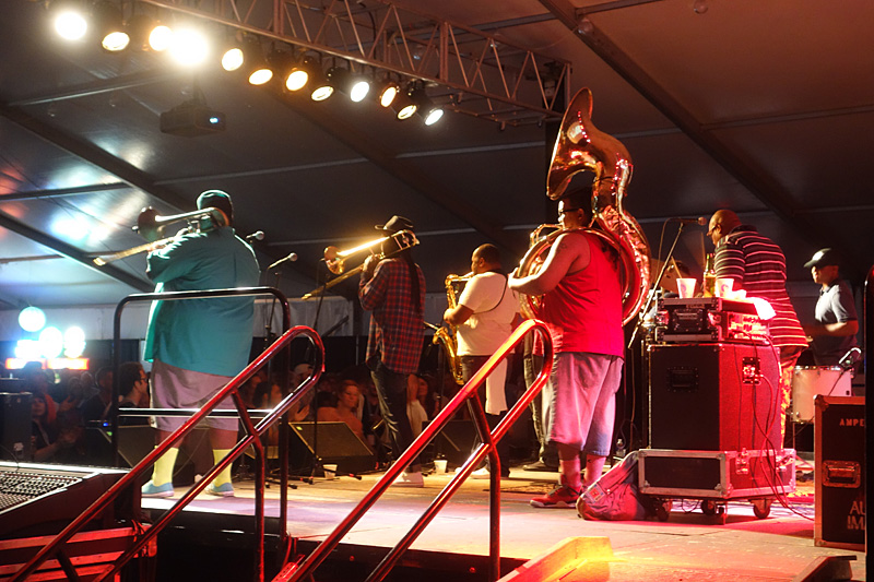 Soul Rebels performing at the 2015 Rochester International Jazz Festival