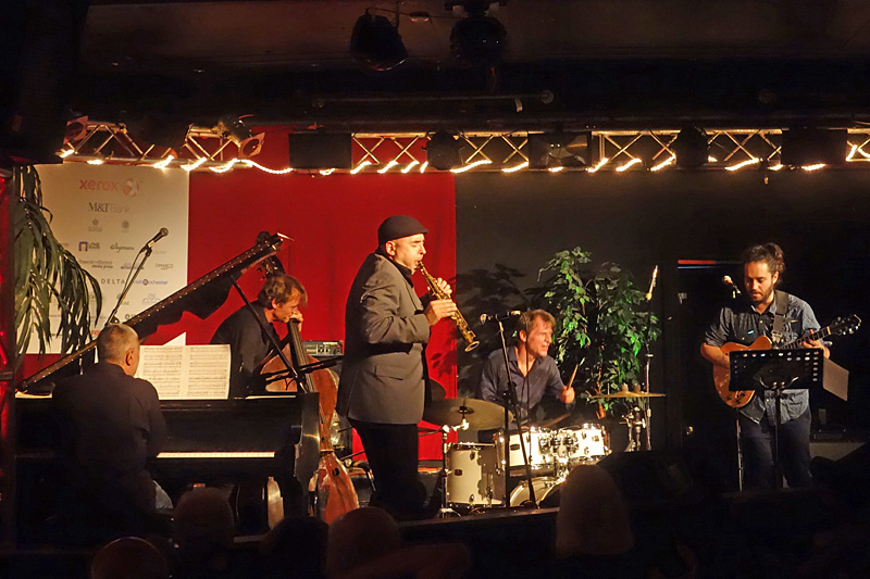 Moutin Factory Quintet performing at the 2015 Rochester International Jazz Festival