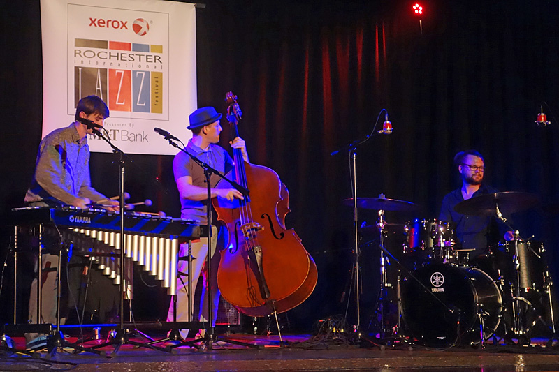 Cloudmaker Trio performing at the 2015 Rochester International Jazz Festival