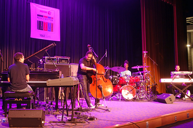 Stanley Clarke performing at the 2015 Rochester International Jazz Festival